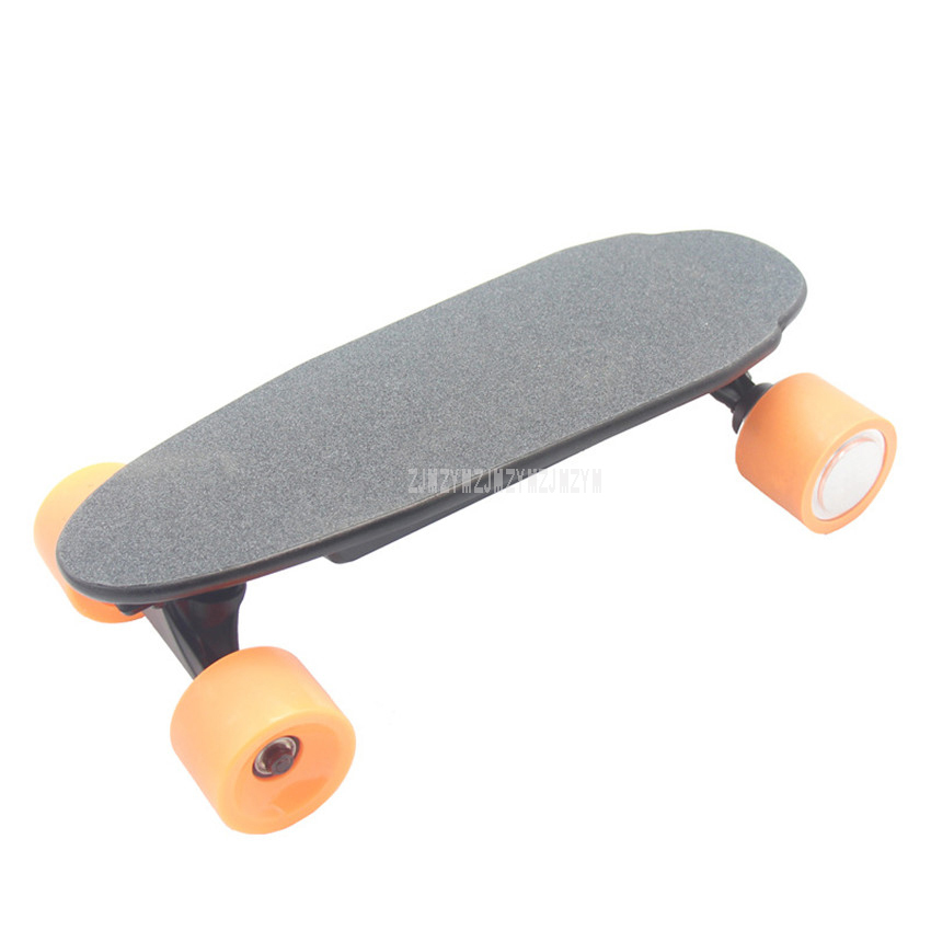 Small Four Wheel <font><b>Electric</b></font> Remote Control Mini Fish Design Skateboard 10km Child <font><b>Scooter</b></font> Skate Board For Children Birthday Gift image