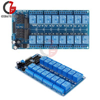 16 Channel 12V Relay Shield Module Wiht Optocoupler LM2576 Power Supply For Arduino