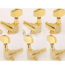 6Pcs / Set 3R3L Gold Big Button Guitar Sealed String Tuning Pegs Keys Machine Heads Tuners