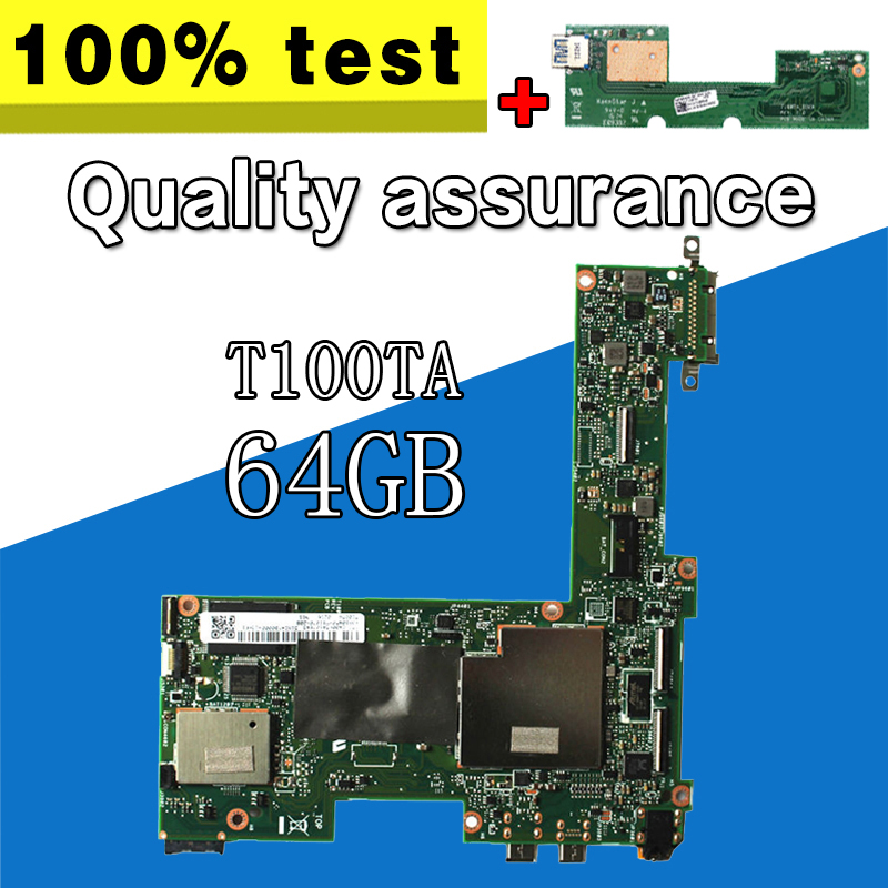 send board+For Asus Transformer T100TA Tablet Motherboard 64GB Atom 1.33Ghz CPU 60NB0450-MB1070 Mainboard 100% tested S-4 send board t100ta motherboard 64gb for asus t100ta t100taf t100t laptop motherboard t100ta mainboard t100ta motherboard test ok