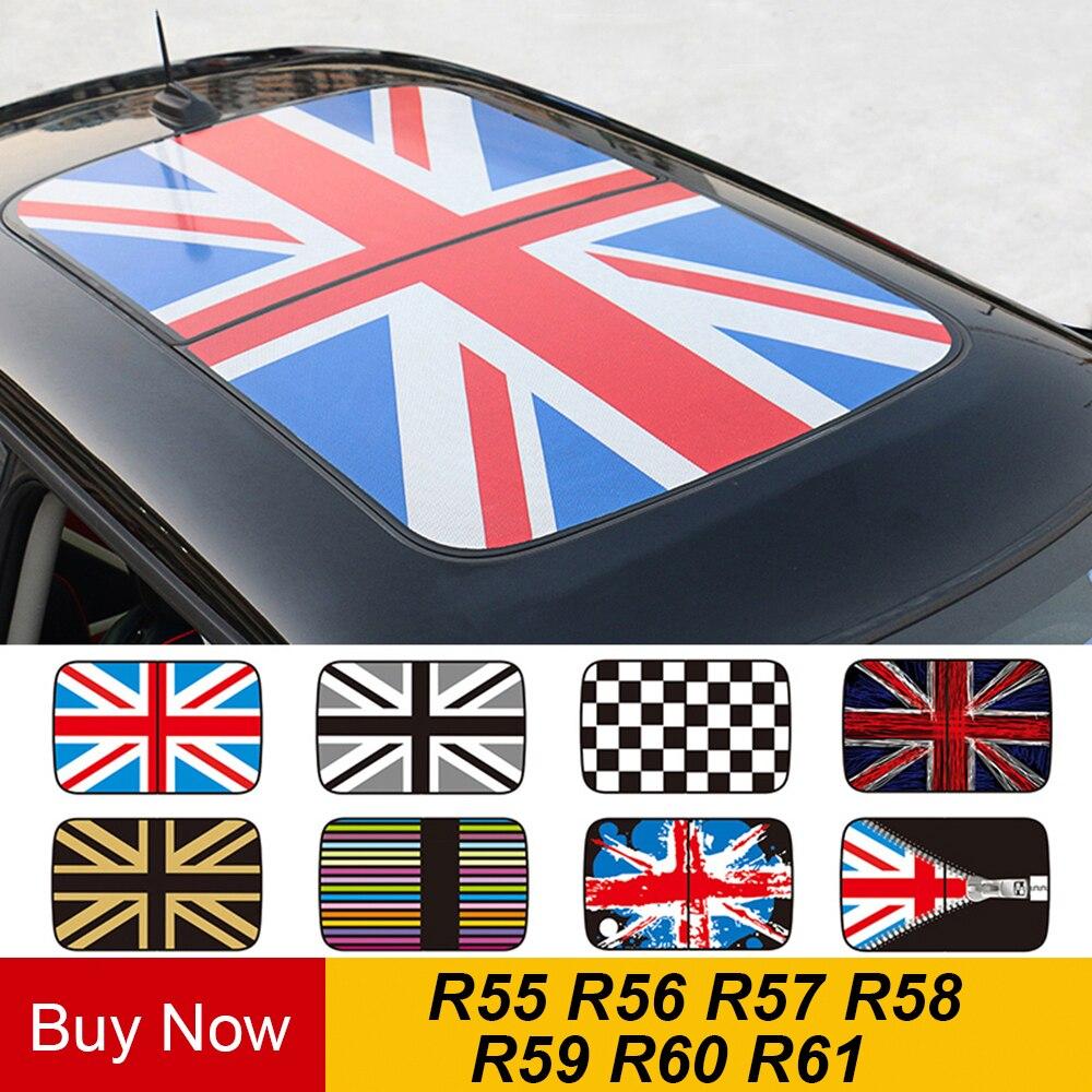 Autocollant de toit ouvrant semi-transparent style de voiture pour MINI Cooper JCW R55 R56 R57 R58 R59 R60 R61 Countryman Clubman accessoires
