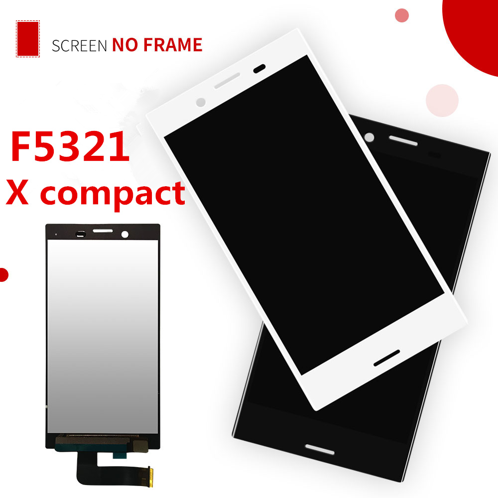 Original LCD Display For Sony Xperia X Compact F5321 Touch Screen 4.6 Inch Digitizer Sensor Panel Assembly For SONY X MINI Frame