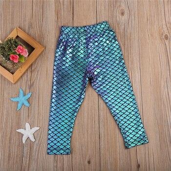 Mermaid Summer Leggings for Girls 5