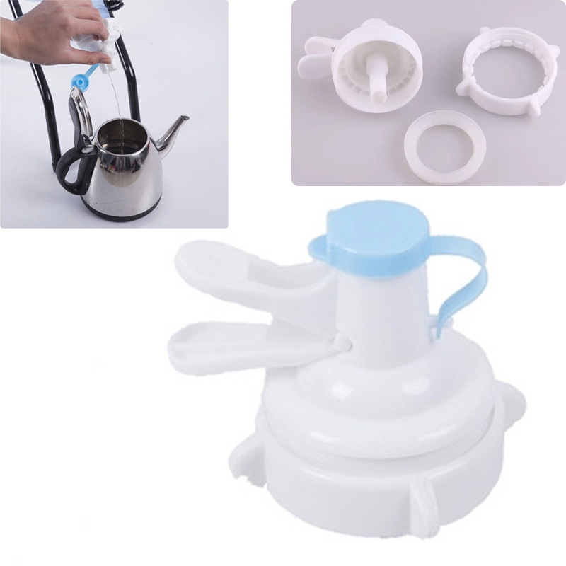 Water Bottle Dispenser Pump Plastic Sport Drinking Water Bottles Camping Dispensers With Dustproof Cap HG99