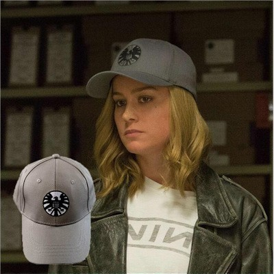 Captain Marvel Carol Danvers Baseball Caps Unisex Adjustable Hip Hop Sun Hat Snapback Agent Of S.H.I.E.L.D. Shield Hats Cosplay(China)