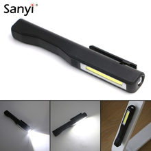 Sanyi COB LED Mini Pen Multifunction LED Torch Inspection Lamp Pocket Led Flashlight Torch with Clip Magnet Lanterna,Use AAA(China)