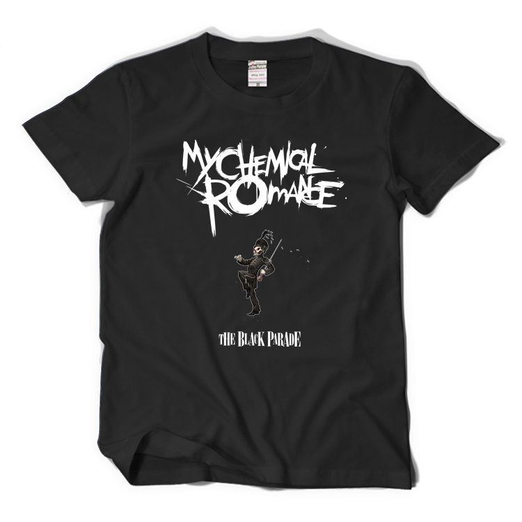 MCR BAND Rock Band My Chemical Romance T Shirt Black Cotton T-shirt Short Sleeves Summer Tee