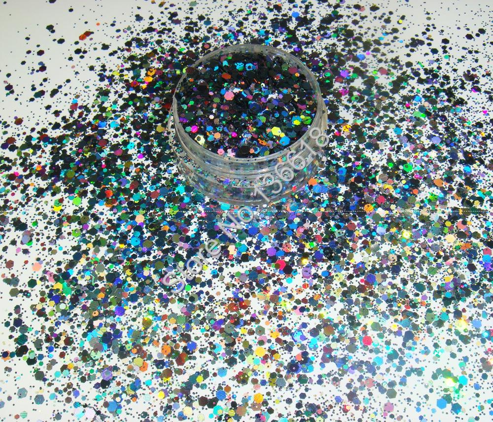 Peinture A Paillette Pour Meuble 50g holographique laser couleur gris paillettes mélange