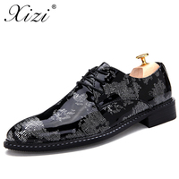 XIZI Men's British Style Formal Shoes Social Male Casual Pointed Toe Flat for Male Fashion Italian Men Driving Flats Dress Shoes