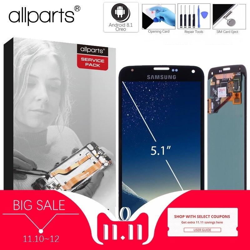 Original 5.1'' Super AMOLED LCD for SAMSUNG Galaxy S5 LCD Display i9600 G900 G900F G900M G900H SM G900F Touch Screen Digitizer