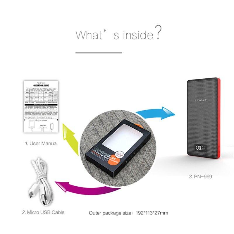 Banco do Poder li-bateria de polímero de 20000 Tipo : Emergencial / Portátil