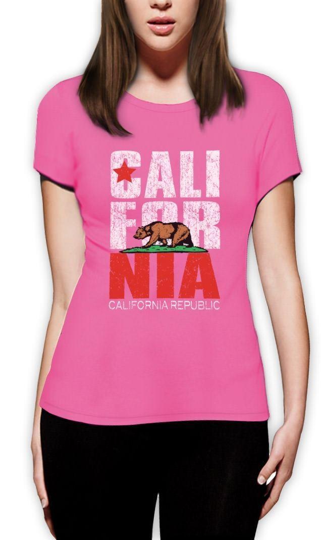 2018 Women Cute T-shirt CALIFORNIA REPUBLIC Women T-Shirt Cali State bear map State Vintage So Cal Summer sexy Tee shirt