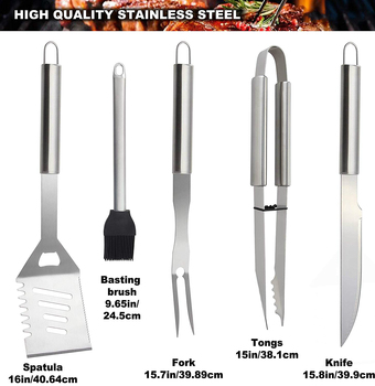26-Pcs Stainless Steel BBQ Grilling Utensil Set