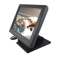 Wearson 12 Inch 4 Wire Resistive Touch Screen Monitor VGA Input 1024x768 Resolution VESA For Medical