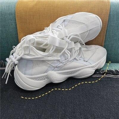 À De Jogging Classique Confortable Casual Blanc Air Lacets Hommes Durable Chaussures Sport Plein White En Respirant Respirantes PZuOkiX