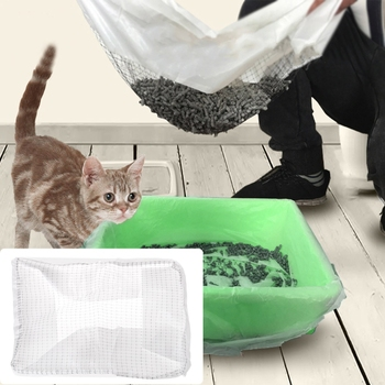 10Pcs/Lot Reusable Pet Scoop Liners Cat Feces Filter Kitten Litter Tray Liners