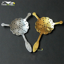 New 304 Stainless Steel Absinthe Spoon Cocktail Bar Utensils Bitter Scoop Glass Cups Drink Ware Spoons Filter