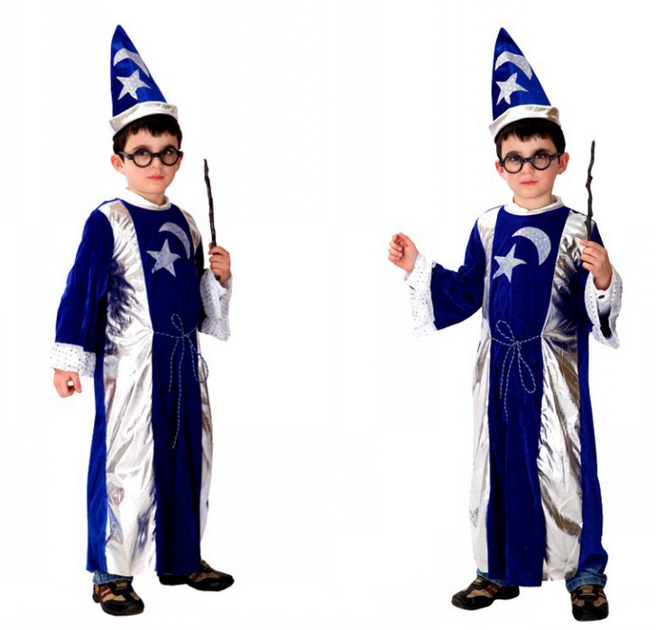 For Kids Colorful Magic Cosplay Costume Party Dress For Festival Performance