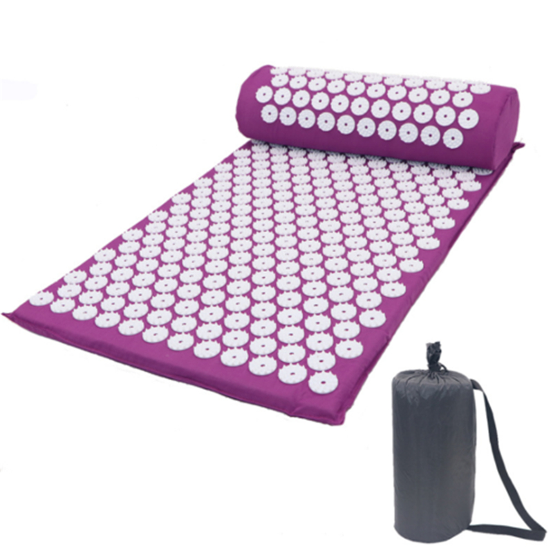 Acupressure Massage Mat for Stress Tension Relaxation with Spike Cushion and Pillow set 2