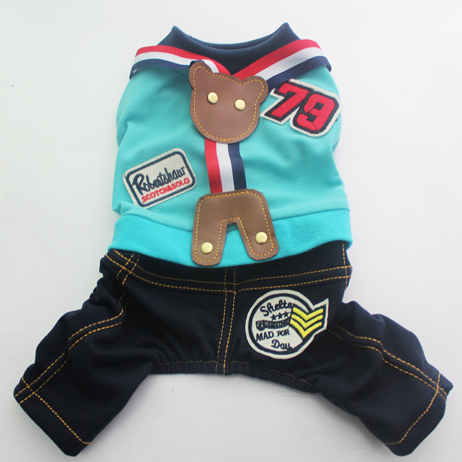 Pet Dog Jumpsuit Rompers Bear Design Cat Puppy Shirt Coat Vest Pants Spring/Autumn Apparel 5 Sizes