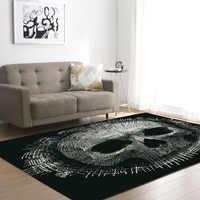 DeMissir 3D Skull Print alfombra grande para sala de estar alfombra de dormitorio antideslizante tapete para sala tapetes