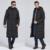 20176 hombres de invierno largo abajo chaqueta más de la rodilla de gran tamaño 3XL negocio capa ocasional gruesa de pato blanco de alta calidad hacia abajo MK472