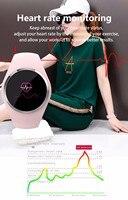 Frauen der Dame Bluetooth Smart Uhr Telefon Mate Herz Rate Monitor Fitness Tracker Smartwatch APP Unterstützung Passometer Kompatibel-in Smart Watches aus Verbraucherelektronik bei