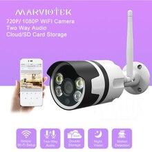 Мини Wi-Fi ip-камера Открытый водонепроницаемый беспроводной домашней безопасности пуля камера видеонаблюдения 1080 P ИК с подкладкой аудио ночного видения P2P