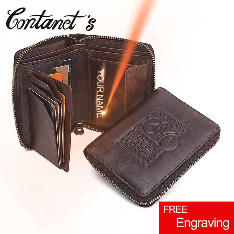 Mens Wallet Leather Genuine Bicycle Printted Design Male Wallets Zipper Around With Coin Purse High Class Money Bag Card Holder simline fashion genuine leather real cowhide women lady short slim wallet wallets purse card holder zipper coin pocket ladies