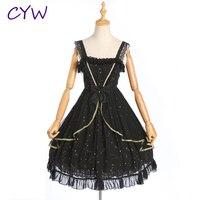 New Fashion Women Lolita Dress Beautiful Skirt Without Sleeves Party Lovely Dresses Princess Bowknot Uniforms Dress
