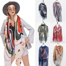 Fashion Women New Elegant Soft Cotton Silk Wrap Shawl Scarf Long Voile Stole Lot Hot