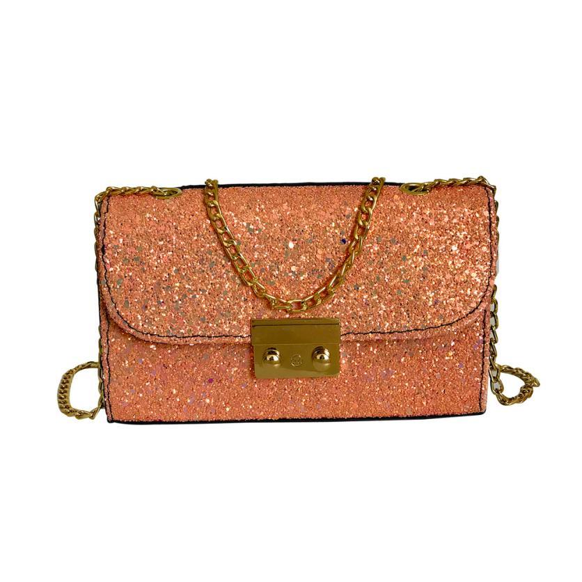 Женская мода PU хит цвет блестки кожаная сумка через плечо сумка женская сплошной цвет пряжки небольшой площади сумка # F
