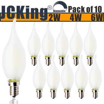JCKing Dimmable 220V E14 LED Filament Vintage Light Bulb, LED Frosted Flame Bulbs, SES Flame Light Bulb for Chandeliers - Category 🛒 Lights & Lighting