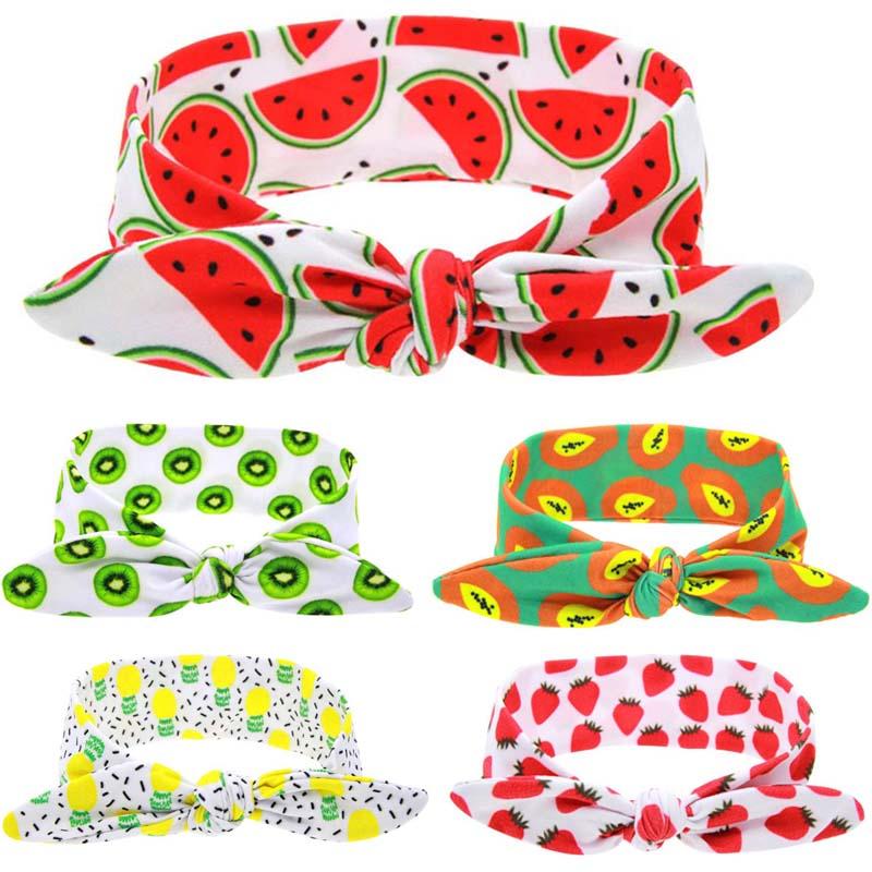 Hot Sale 1 Pc DIY Newborn Children Unisex Fruit Style Soft Braider Tiara Headbands Hair Accessories