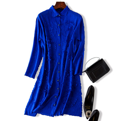 Breated Tranchée Couleur Manteau gris Livraison Lâche Pur Trench Noir En Pliage Unique De Gratuite Stock Manches bleu Mode Longues vbgY6fyI7m