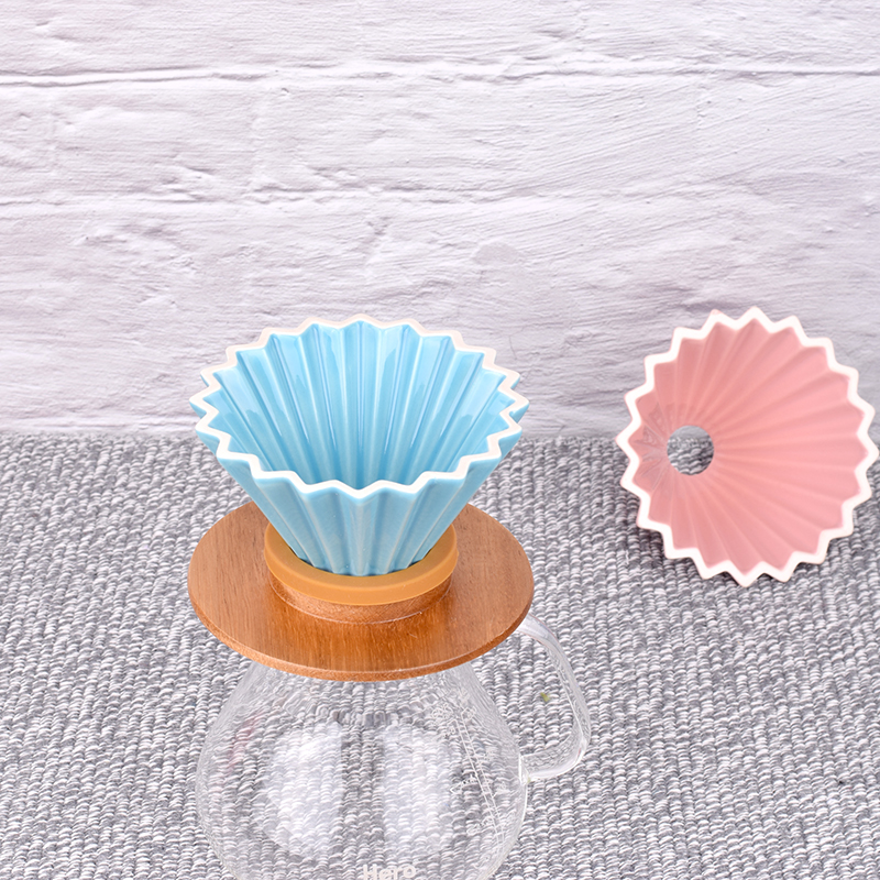 New Ceramic Coffee Filter Cup Origami dripper pour over coffee filter cup1 2cups-in Coffee Filters from Home & Garden    1