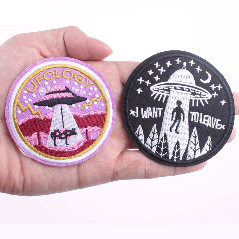 Peace Alien Embroidery Applique Patch Sew Iron Badge Iron On
