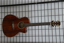 China handmade K240 Solid KOA best quality acoustic guitar with EQ