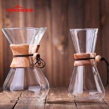 600ml/800ml עמיד בחום זכוכית קפה סיר קפה בירה כוסות נספר מכונת קפה ריסטה פרקולטור