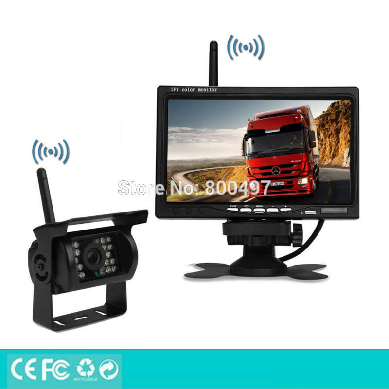 Newest Wireless Parking Assistance System Remote 100M Rear View Camera 7 Inch TFT LCD Car Monitor Fit for Auto Truck Van Bus brother tn241y yellow тонер картридж для brother hl 3140cw hl 3170cdw dcp 9020cdw mfc 9330cdw