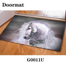 Personalizado hermoso caballo felpudo decoración dormitorio carpet sq0630-kl823 classic durable floor mat envío libre