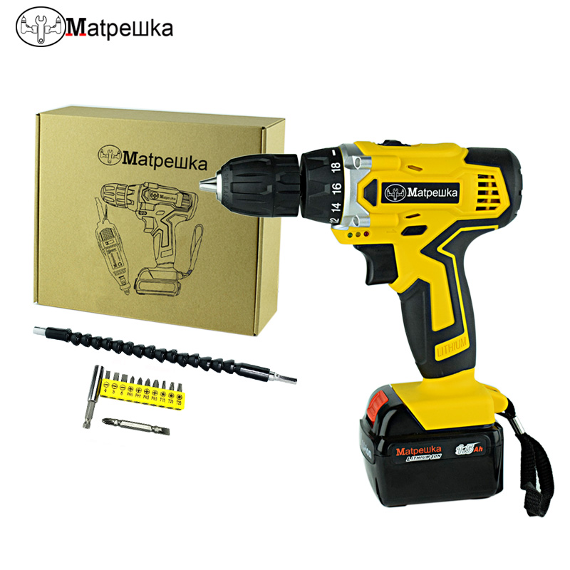 21V Electric Screwdriver Rechargeable Lithium-ion Power Tools Mini Cordless Electric Drill Multifunctional Waterproof Drill electric cordless drill 16 8v lithium ion dremel drill engraver electric drill power tools two speed rechargeable screwdriver