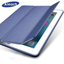 Чехол для Apple, iPad,, 9,7 дюймов, 5-го, 6-го поколения, тонкий кожаный силиконовый Умный Магнитный чехол для iPad 9,7