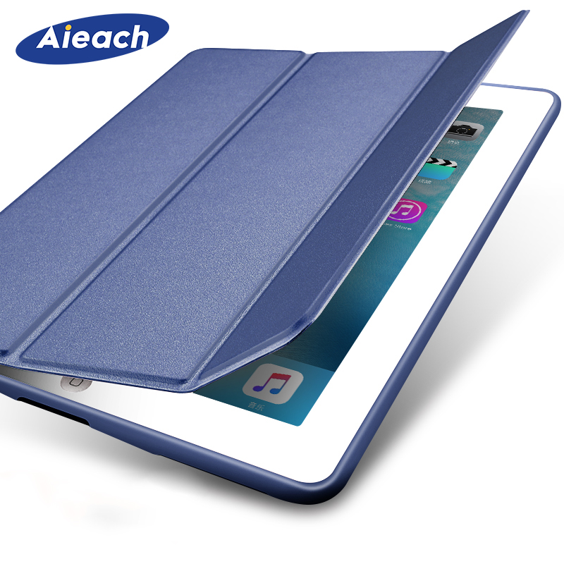 Funda For Apple New IPad 2017 2018 9.7 Inch 5th 6th Generation Case Slim Leather Silicone Smart Magnetic Cover For IPad 9.7 2018