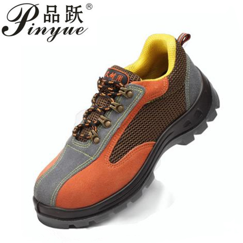 Air Mesh Working Shoes Men Safety Shoes Steel Toe Cap for Men Puncture Proof Durable Breathable Protective Footwear Work Shoes air mesh men boots work safety shoes steel toe cap for anti smashing puncture proof durable breathable protective footwear