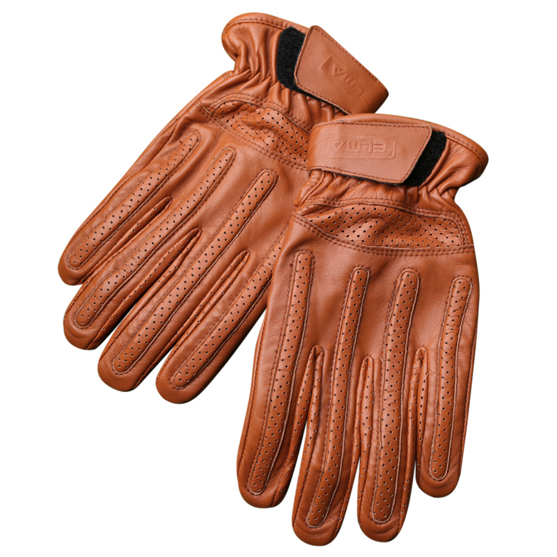 Motorcycle Gloves Spring Summer Men'S Leather Motorcycle Gloves Anti-Skid Off-Road Driving Breathable Sheepskin Gloves SZ018
