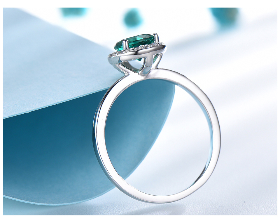 UMCHO Emerald 925 sterling silver rings for women RUJ046E-1-pc (5)