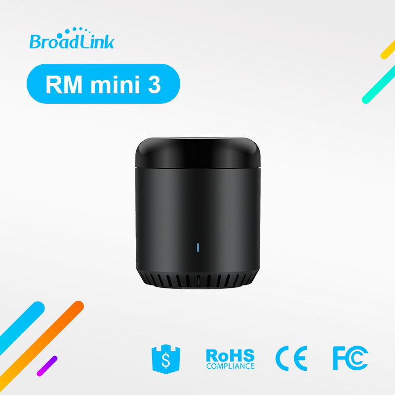 Broadlink RM Mini3 Universal Intelligent WiFi/IR/4G Wireless Remote Controller Via IOS Android Phone Smart Home Automation broadlink eu us rm pro rm2 smart home automation universal intelligent controller wifi ir rf315 433 control via ios android app