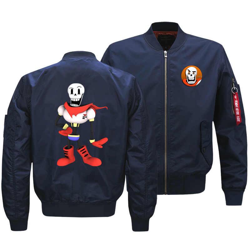 Undertale из чистого хлопка утолщенная летная куртка мужская осень зима хлопок Мода Кардиган настраиваемая куртка