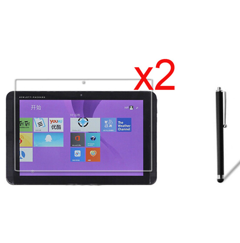 3in1 2x Clear Films LCD Screen Protector Protective Film Guards +1x Stylus Pen For HP Pavilion X2 10 J014TU J025TU 10.1